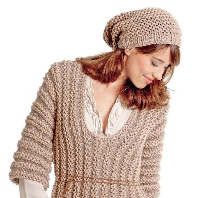 схемы вязания шапок спицами женщин бесплатно
