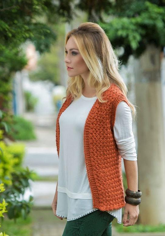 вязание жилета спицами для женщин