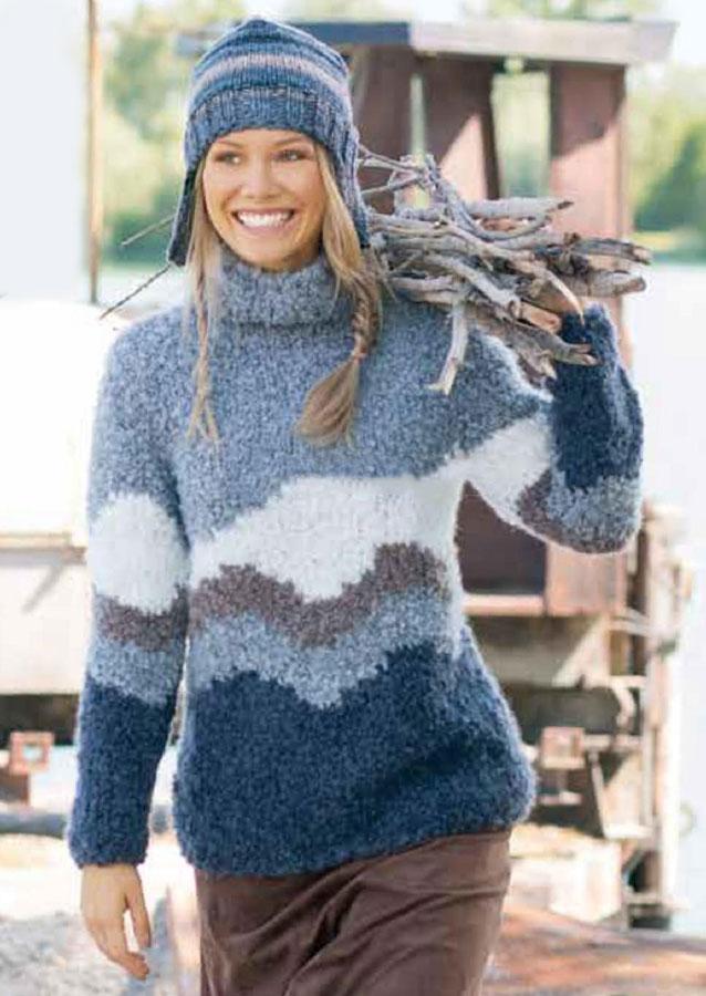 шапочка с ушками схема вязания спицами женского свитера