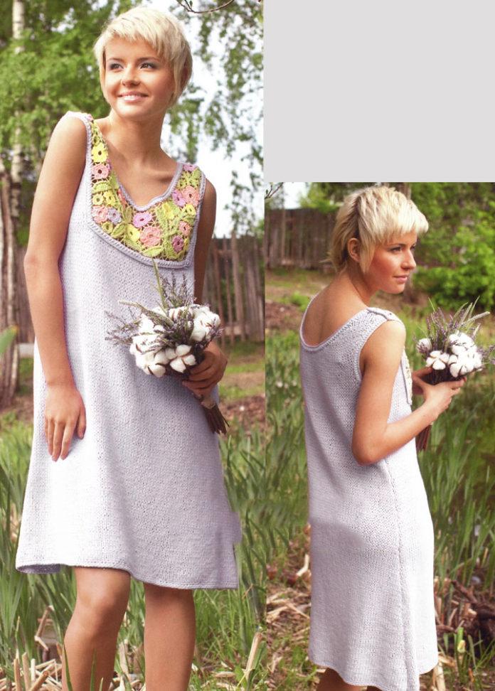 Серое платье в стиле фриформ