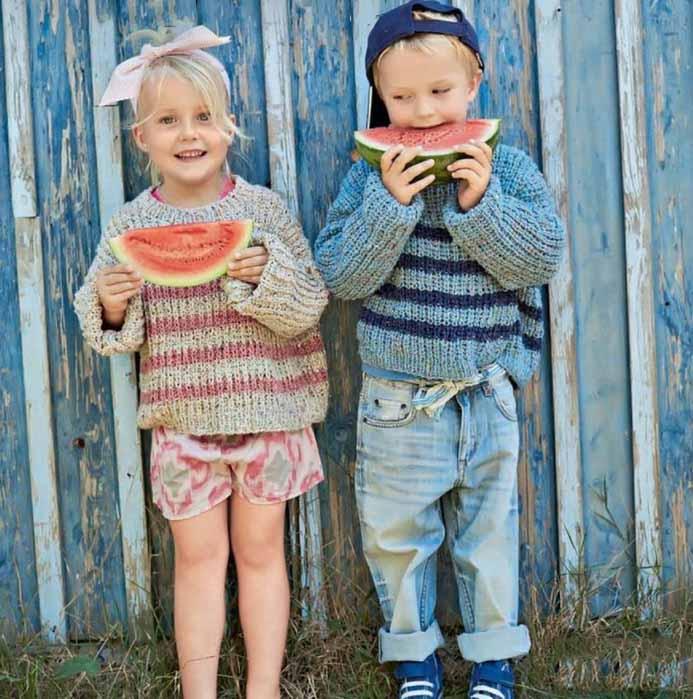 пуловер для мальчика и девочки