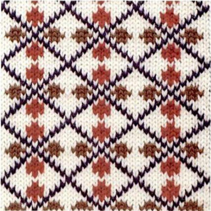 Жаккардовый узор спицами №1 схема вязания спицами