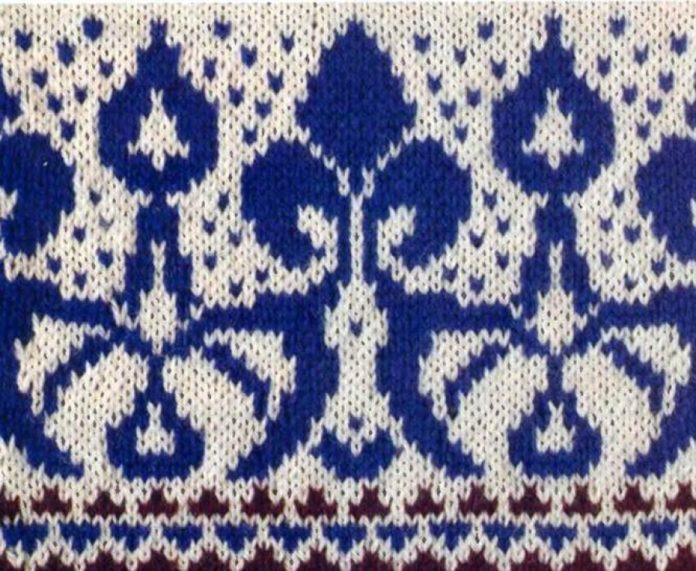 Жаккардовый узор спицами №2 схема вязания спицами