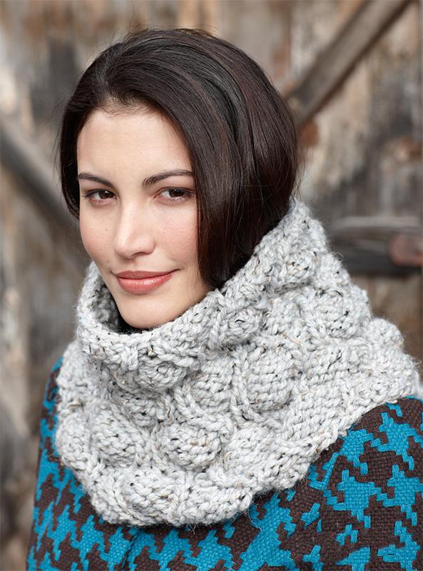 Объемный снуд спицами схема вязания с подробным описанием для женщин бесплатно