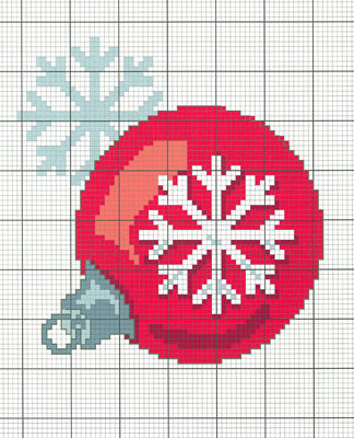 Новогодний шар вышивка крестом