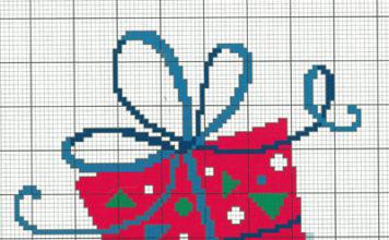 Вышивка крестом Новогодний подарок схема