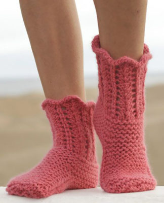 Ажурные носки на двух спицах схема вязания с подробным описанием