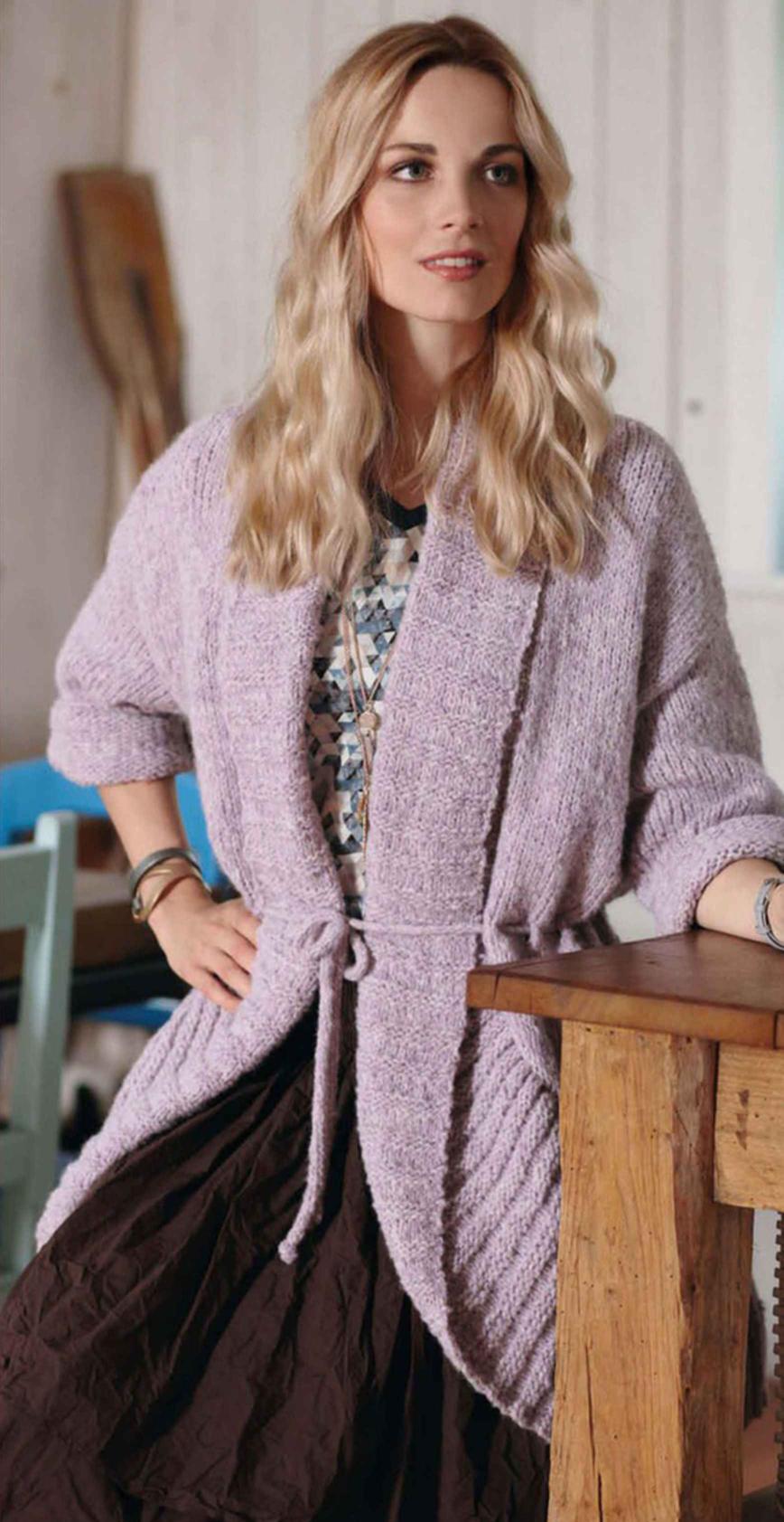 Модное вязание 2017. Жакет спицами для женщин