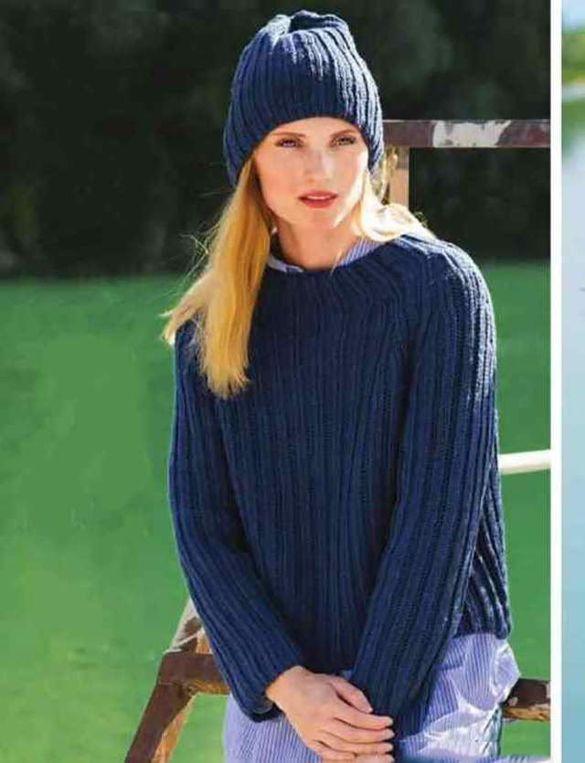 Пуловер и шапка спицами патентным узором схема вязания с подробным описанием