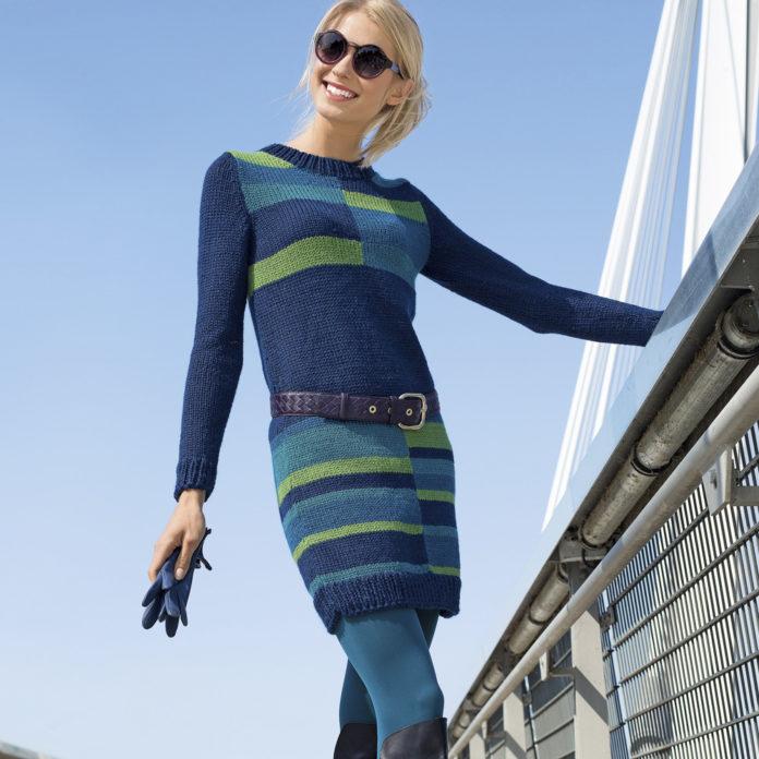 Платье спицами с геометрическим рисунком схема вязания спицами с подробным описанием