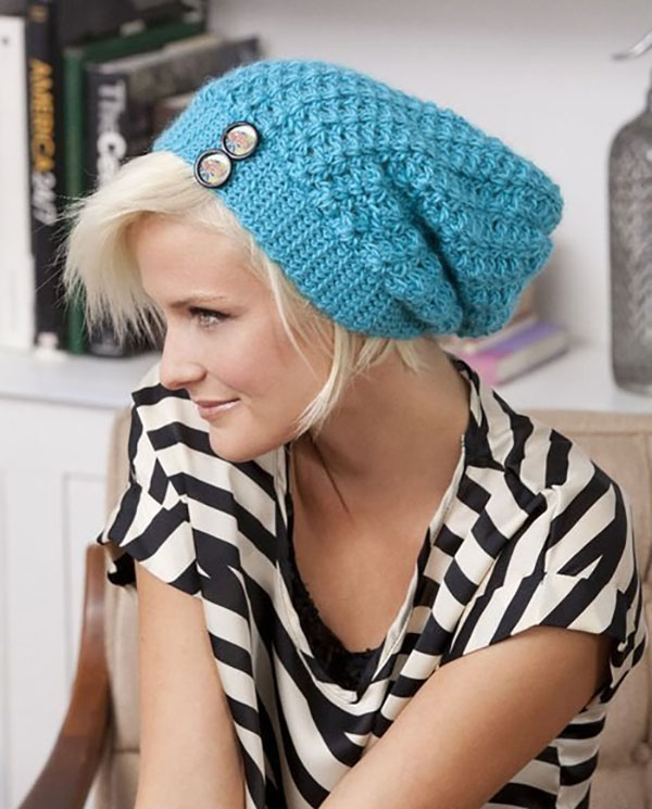 голубая шапка чулок крючком портал рукоделия и моды