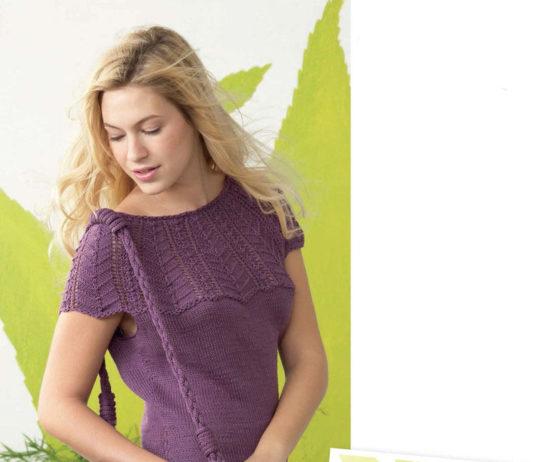 Летний пуловер спицами и сумка схема вязания спицами с подробным описанием