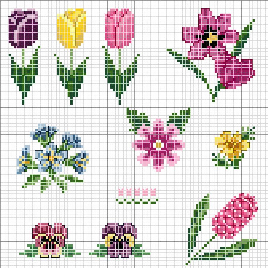 Картинки цветов для вышивки крестиком, встретимся сне