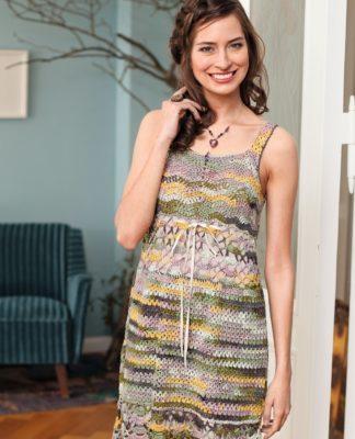 Летнее платье крючком с ажурной каймой схема вязания с подробным описанием