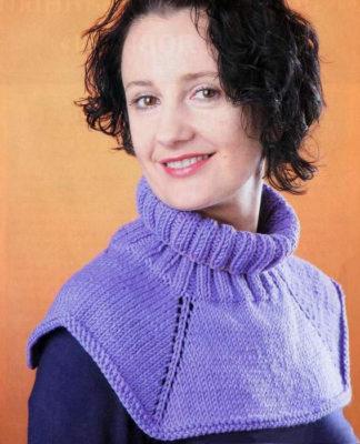 Цельновязанная манишка спицами - мастер-класс пошаговая инструкция вязания