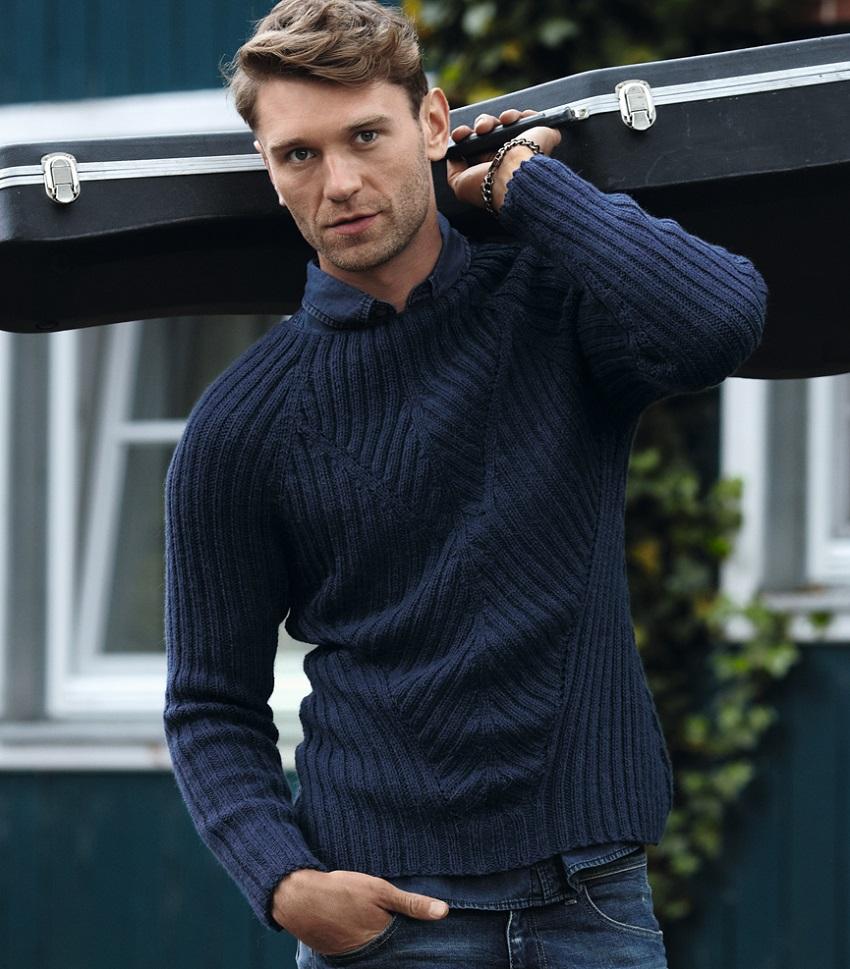 мужской пуловер спицами резинкой 2х2 портал рукоделия и моды