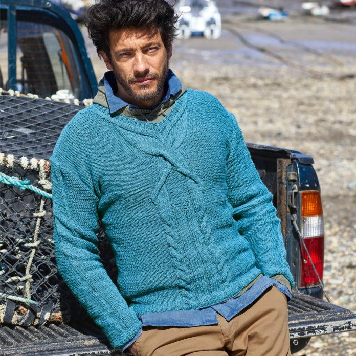 Мужской свитер спицами с крупным переплетение кос схема вязания с подробным описанием