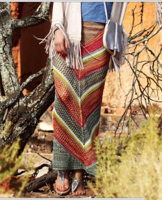 Вязаная юбка с сетчатым узором схема вязания с подробным описанием для женщин