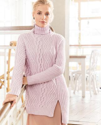 вязаные спицами женские свитера пуловеры и джемперы 2018