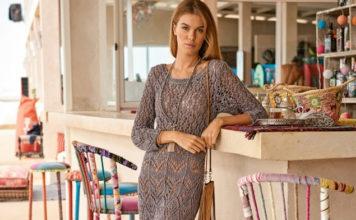 Ажурное платье спицами в пол схема вязания с подробным описанием для женщин