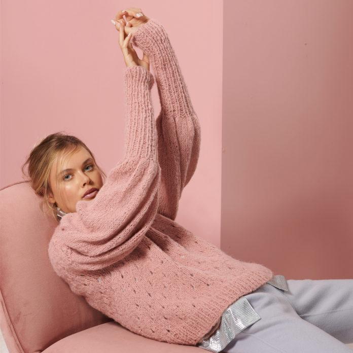 Пуловер спицами с объемным рукавом буфом схема вязания с подробным описанием