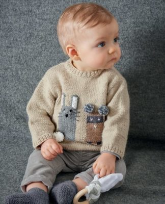 Детский свитер спицами с жаккардовым узором схема вязания с подробным описанием для детей