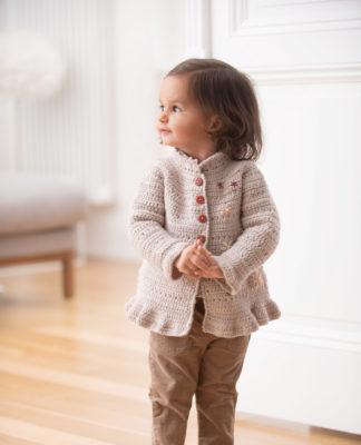 Детская кофточка крючком с вышитыми цветами схема вязания с подробным описанием