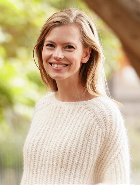 Воздушный пуловер спицами английской резинкой  схема вязания бесплатно для женщин