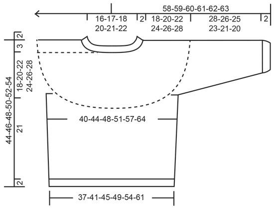 Хлопковый джемпер спицами с круглой кокеткой схема вязания бесплатно