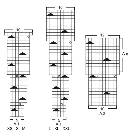 Хлопковый джемпер спицами с круглой кокеткой схема вязания с подробным описанием
