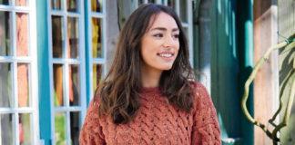 Терракотовый пуловер с узором из кос спицами схема вязания с подробным описанием для женщин спицами бесплатно
