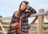 Вязаный кардиган с узором гусиная лапка спицами схема вязания с подробным описанием для женщин спицами
