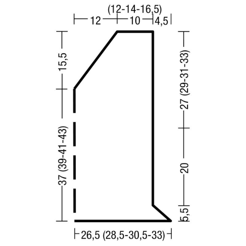 Топ спицами с v-образным вырезом выкройка с подробным описанием